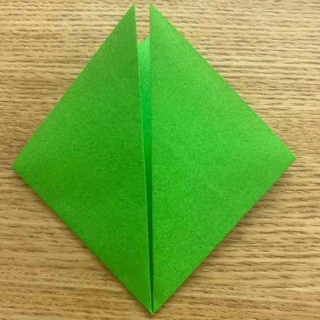 折り紙 パイナップルの簡単な作り方(葉の折り方) (5)