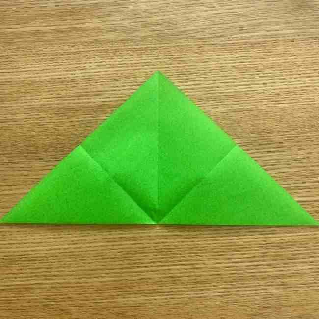 折り紙 パイナップルの簡単な作り方(葉の折り方) (6)