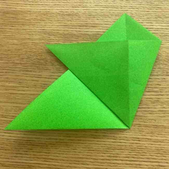 折り紙 パイナップルの簡単な作り方(葉の折り方) (7)