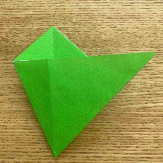 折り紙 パイナップルの簡単な作り方(葉の折り方) (9)