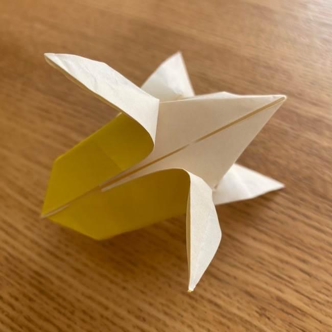 折り紙 皮むきバナナの折り方☆立体的で簡単かわいい食べ物製作♪