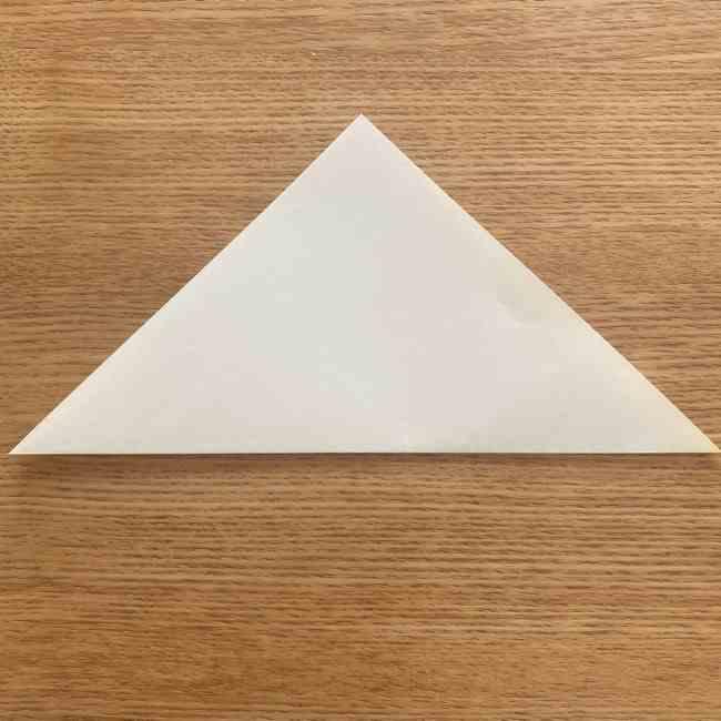 折り紙 皮むきバナナの折り方作り方(立体的) (1)