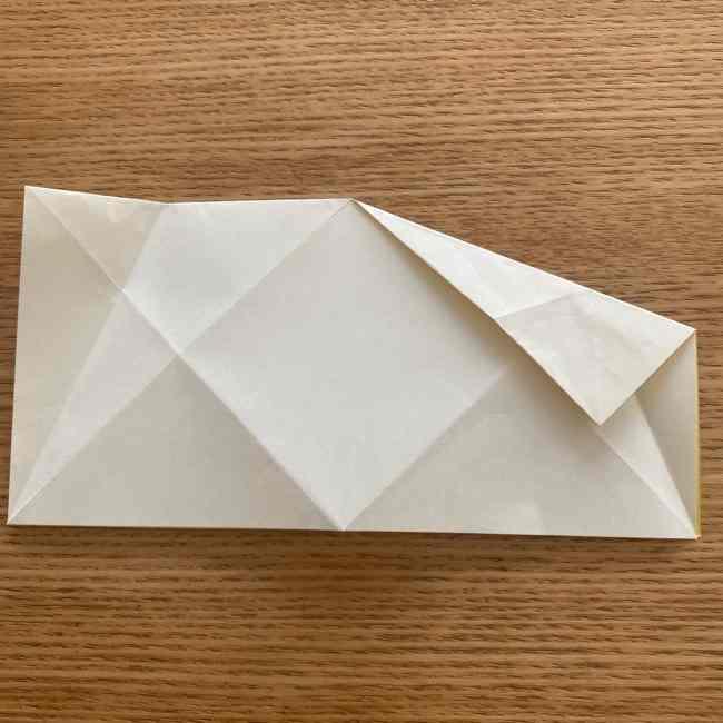 折り紙 皮むきバナナの折り方作り方(立体的) (10)