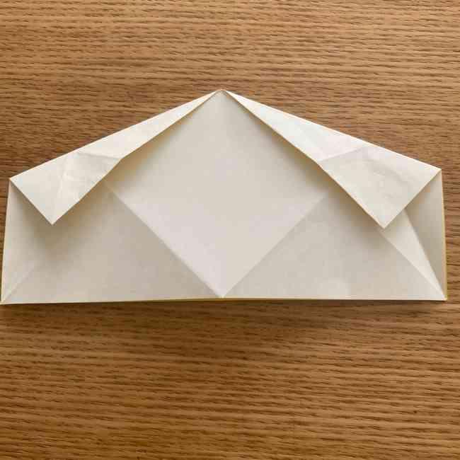折り紙 皮むきバナナの折り方作り方(立体的) (11)