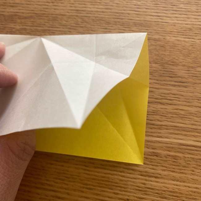 折り紙 皮むきバナナの折り方作り方(立体的) (13)