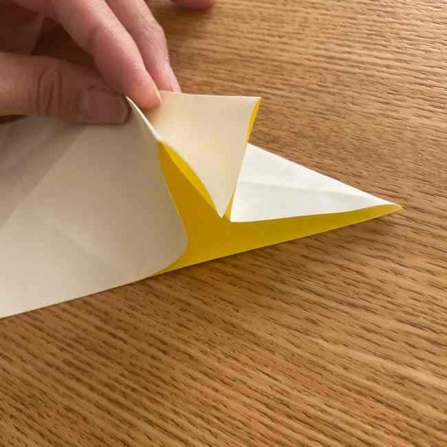 折り紙 皮むきバナナの折り方作り方(立体的) (14)