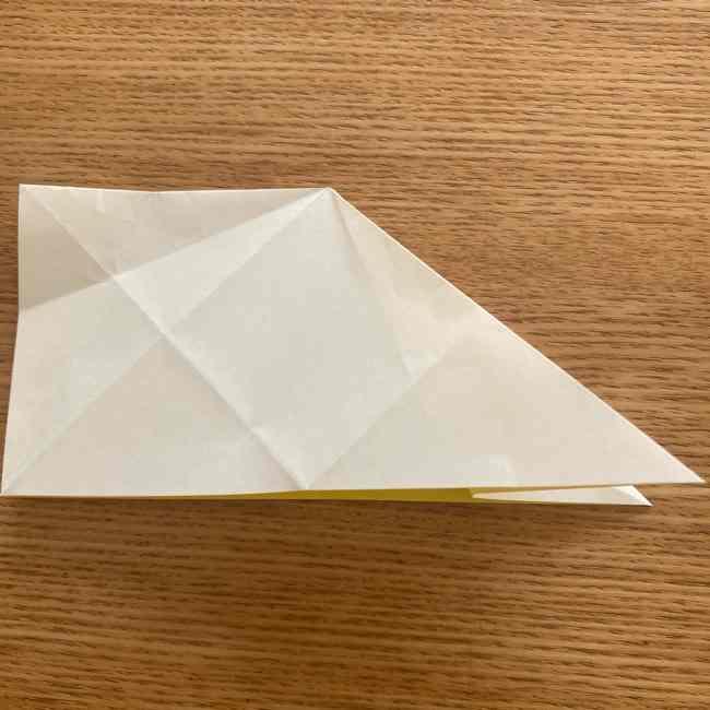 折り紙 皮むきバナナの折り方作り方(立体的) (15)