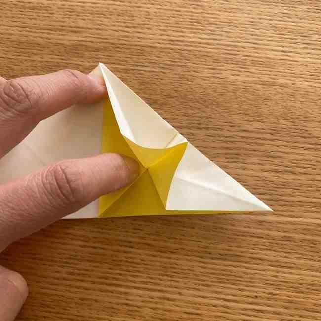 折り紙 皮むきバナナの折り方作り方(立体的) (17)