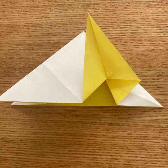折り紙 皮むきバナナの折り方作り方(立体的) (18)