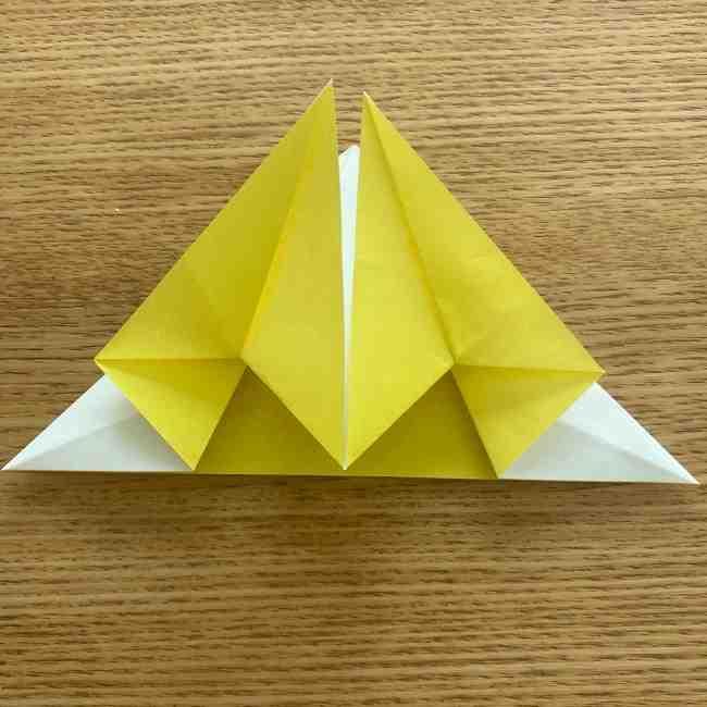 折り紙 皮むきバナナの折り方作り方(立体的) (19)