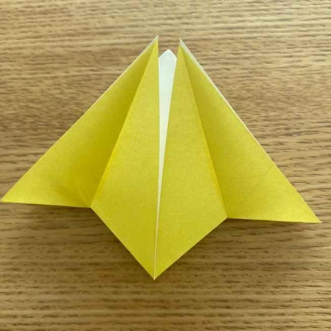 折り紙 皮むきバナナの折り方作り方(立体的) (21)