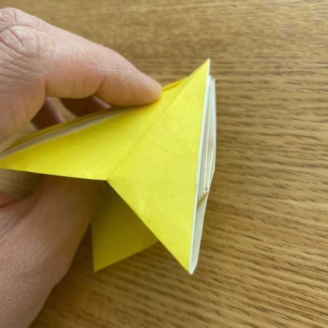 折り紙 皮むきバナナの折り方作り方(立体的) (22)