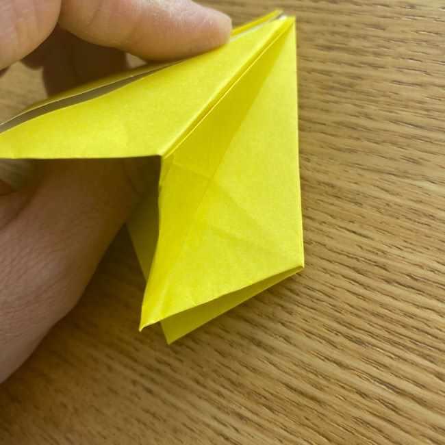 折り紙 皮むきバナナの折り方作り方(立体的) (23)