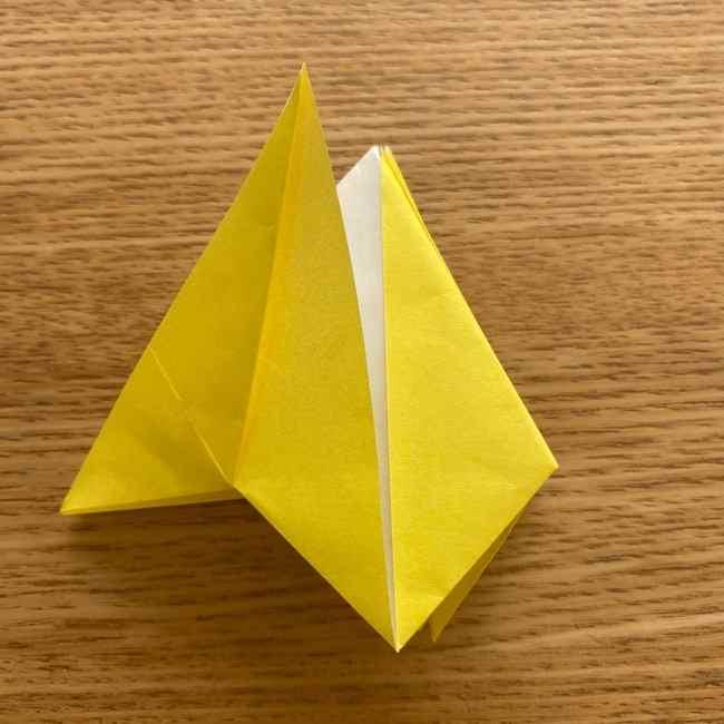 折り紙 皮むきバナナの折り方作り方(立体的) (24)