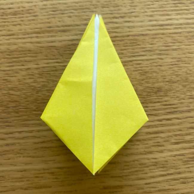 折り紙 皮むきバナナの折り方作り方(立体的) (25)