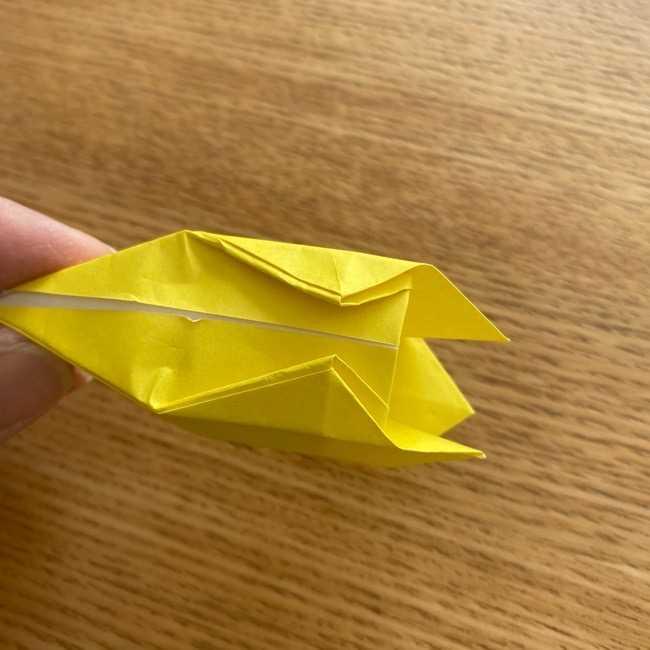 折り紙 皮むきバナナの折り方作り方(立体的) (29)