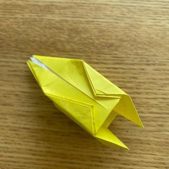 折り紙 皮むきバナナの折り方作り方(立体的) (31)
