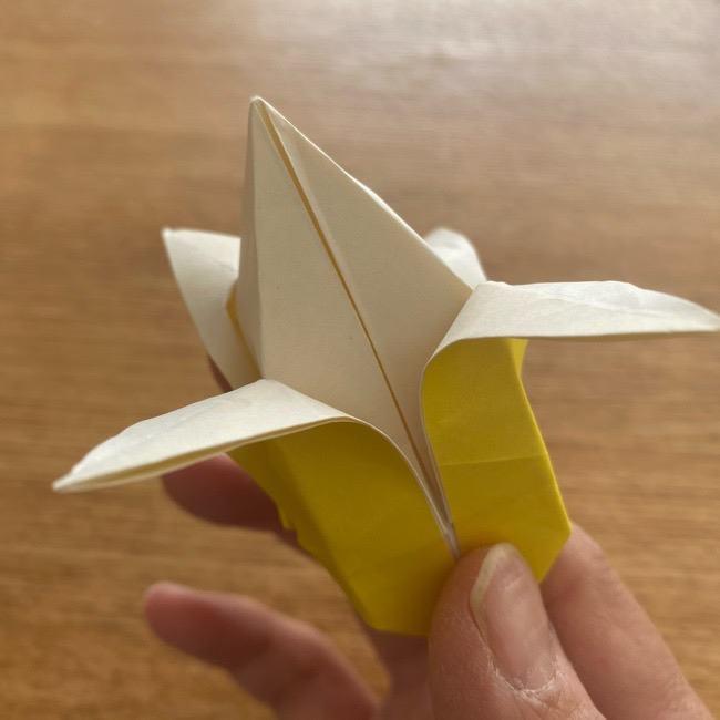 折り紙 皮むきバナナの折り方作り方(立体的) (33)