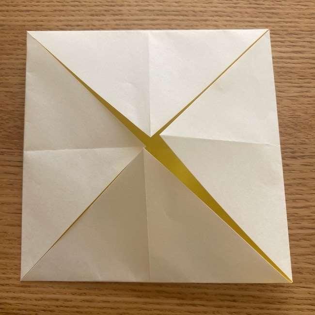 折り紙 皮むきバナナの折り方作り方(立体的) (4)