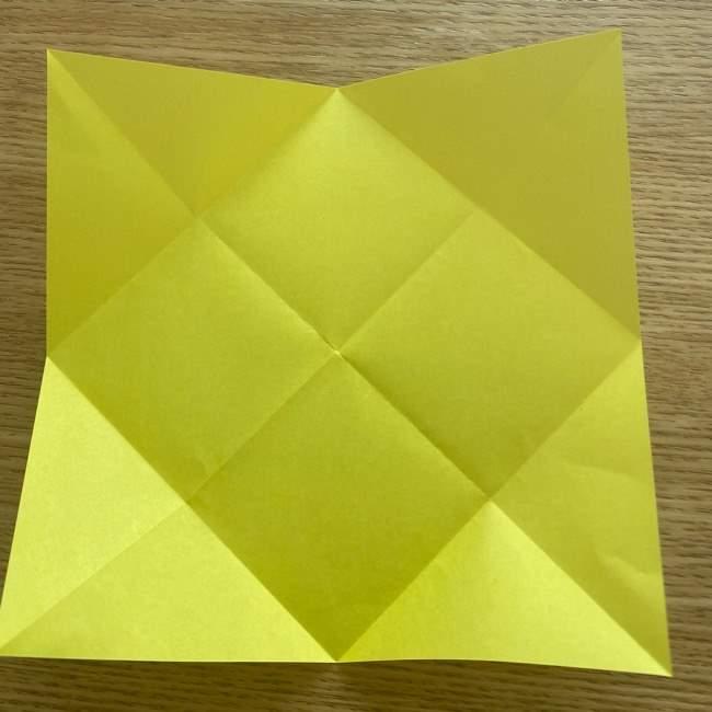 折り紙 皮むきバナナの折り方作り方(立体的) (5)