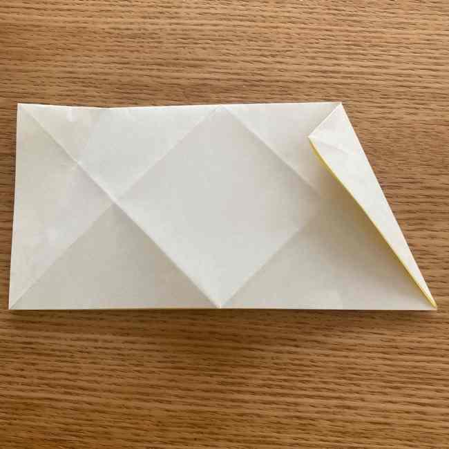 折り紙 皮むきバナナの折り方作り方(立体的) (7)