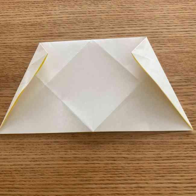 折り紙 皮むきバナナの折り方作り方(立体的) (8)