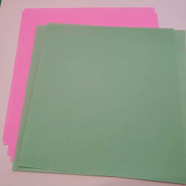 折り紙 蓮の花(立体)と葉の作り方☆用意するもの(1)