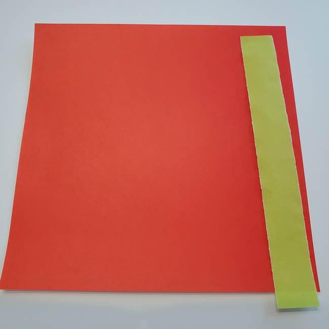 折り紙1枚でカーネーションは立体的に作れる♪(1)