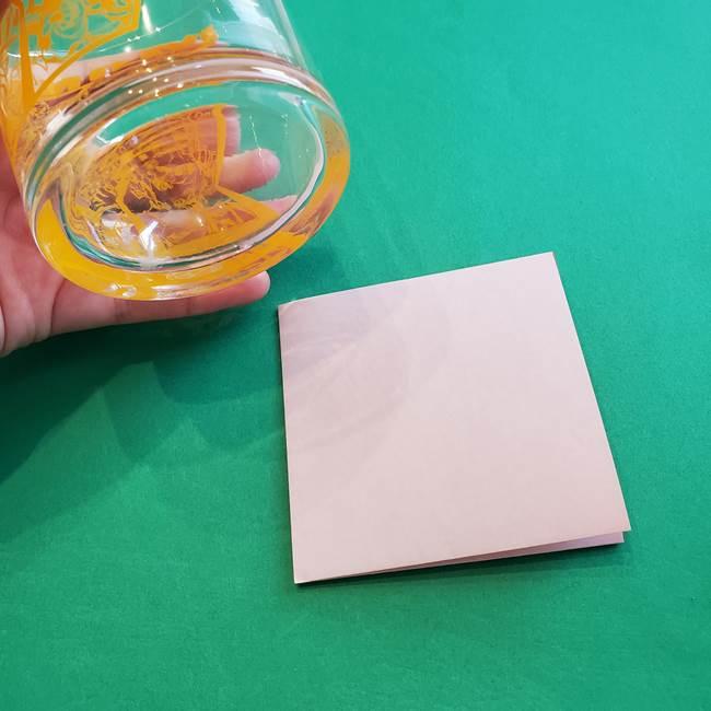折り紙1枚でカーネーションは立体的に作れる♪(3)