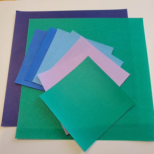 朝顔の折り紙でつくる壁画*用意するもの(1)