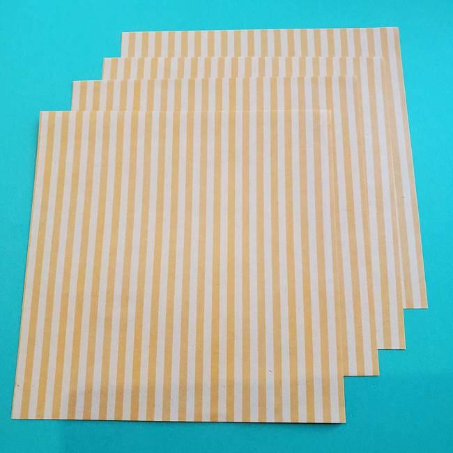 朝顔の折り紙でつくる壁画*用意するもの(2)
