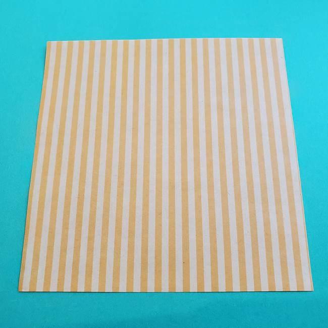 朝顔の折り紙の壁画フレームの作り方②フレーム(1)