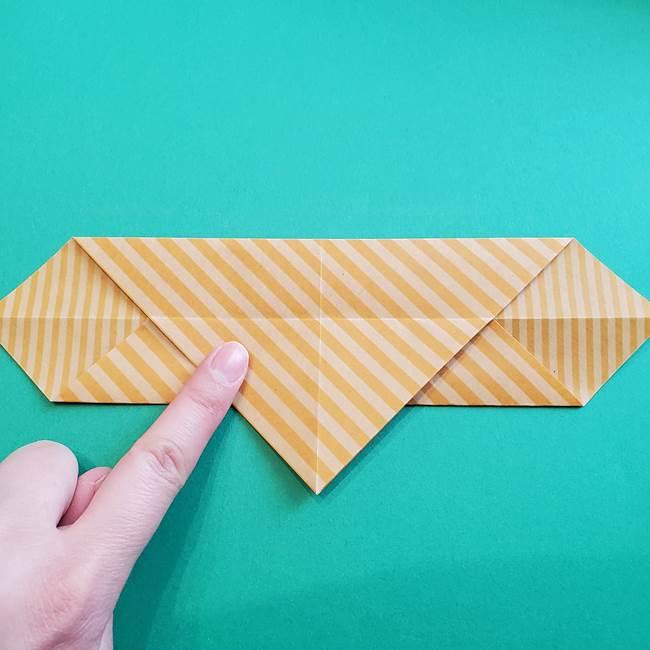 朝顔の折り紙の壁画フレームの作り方②フレーム(10)