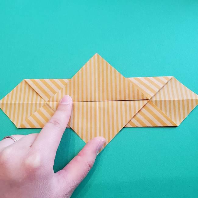 朝顔の折り紙の壁画フレームの作り方②フレーム(11)
