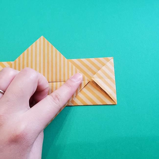 朝顔の折り紙の壁画フレームの作り方②フレーム(12)