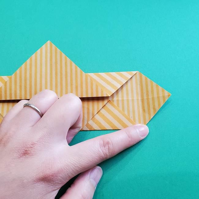 朝顔の折り紙の壁画フレームの作り方②フレーム(13)