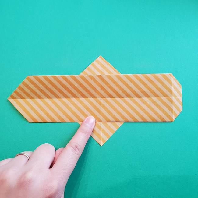 朝顔の折り紙の壁画フレームの作り方②フレーム(15)