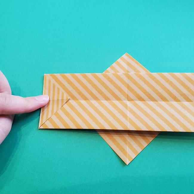 朝顔の折り紙の壁画フレームの作り方②フレーム(16)