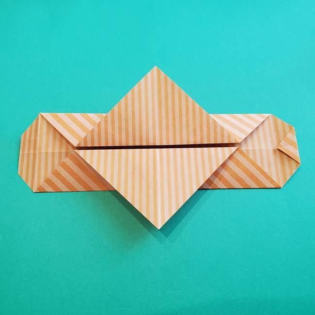 朝顔の折り紙の壁画フレームの作り方②フレーム(18)