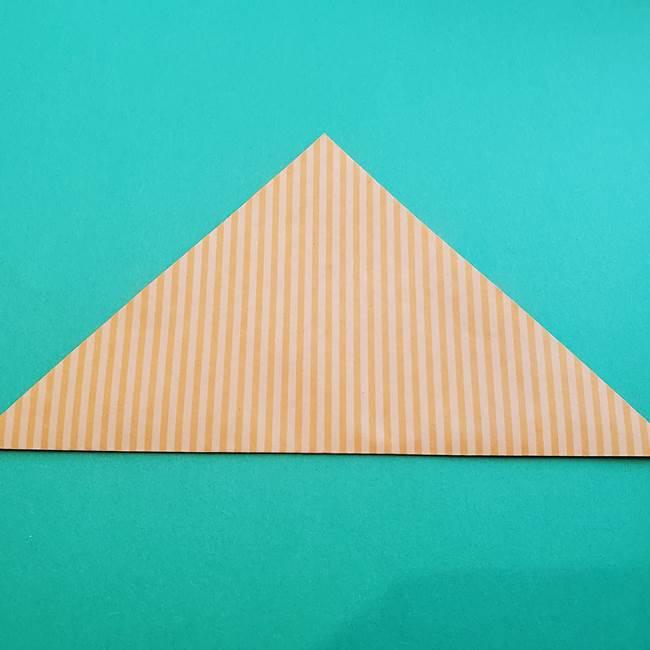 朝顔の折り紙の壁画フレームの作り方②フレーム(2)