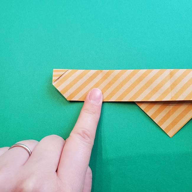 朝顔の折り紙の壁画フレームの作り方②フレーム(20)