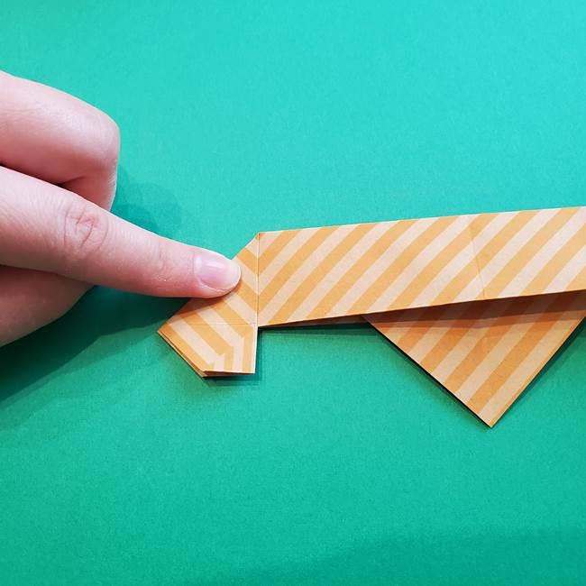 朝顔の折り紙の壁画フレームの作り方②フレーム(21)