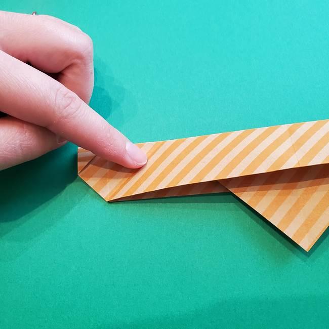 朝顔の折り紙の壁画フレームの作り方②フレーム(22)