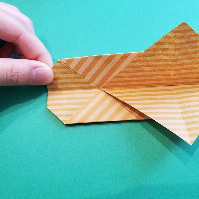 朝顔の折り紙の壁画フレームの作り方②フレーム(23)