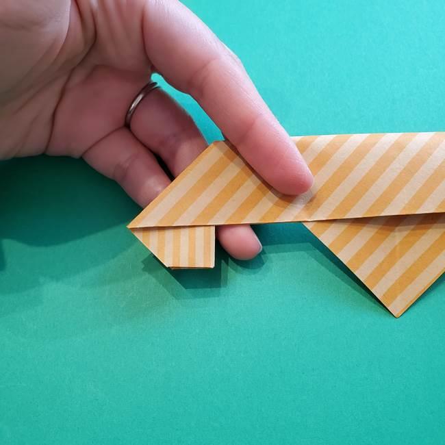 朝顔の折り紙の壁画フレームの作り方②フレーム(25)