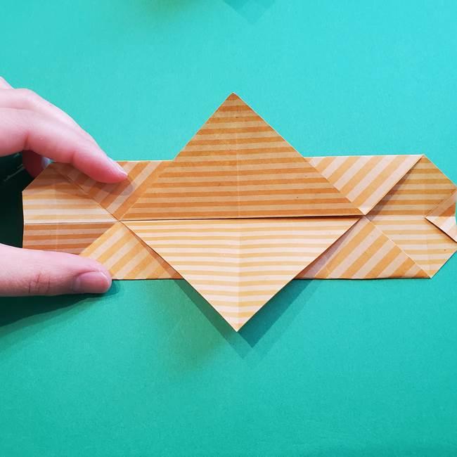 朝顔の折り紙の壁画フレームの作り方②フレーム(26)