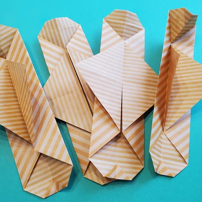 朝顔の折り紙の壁画フレームの作り方②フレーム(27)