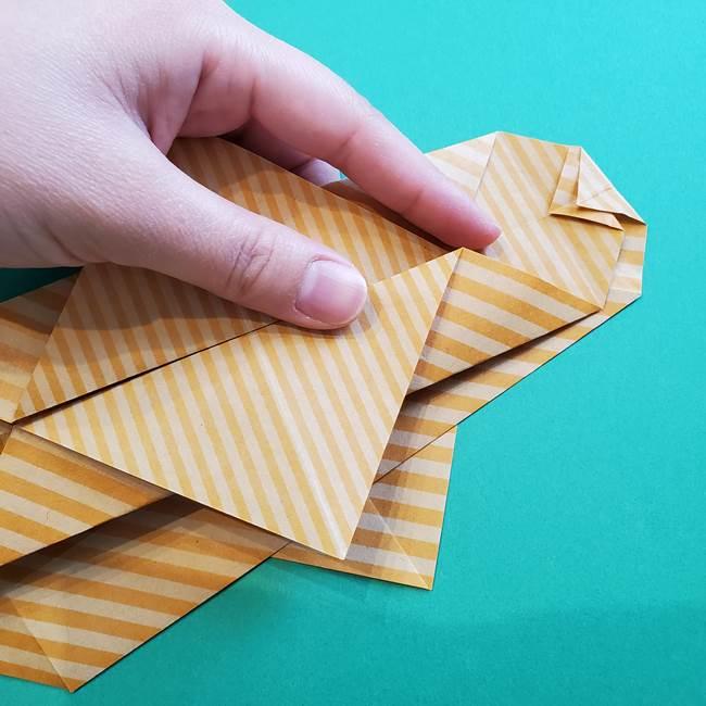 朝顔の折り紙の壁画フレームの作り方②フレーム(29)