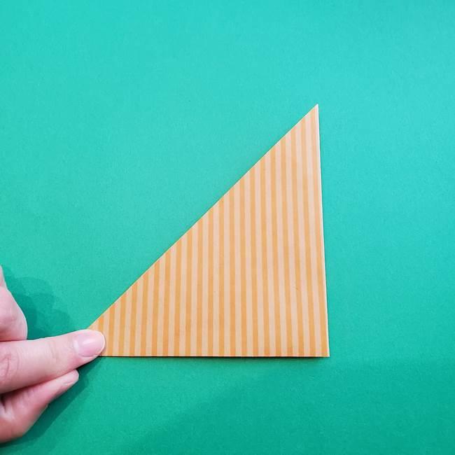 朝顔の折り紙の壁画フレームの作り方②フレーム(3)