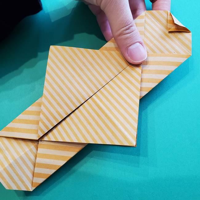 朝顔の折り紙の壁画フレームの作り方②フレーム(30)